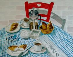 Art: FRENCH BREAKFAST by Artist Julie Jules