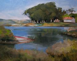 Art: Morning at the Cove - Cuesta Cove - Morro Bay Oil Painting SOLD by Artist Karen Winters
