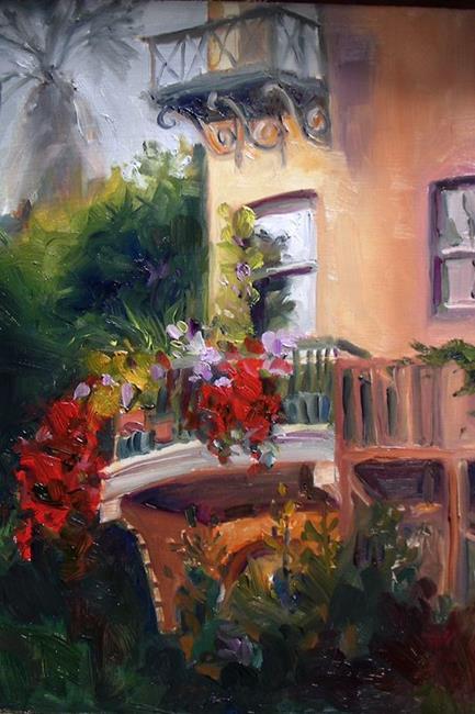 Art: Castle Green Balcony - SOLD by Artist Karen Winters