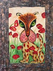 Art: Poppy Cat by Artist Ke Robinson