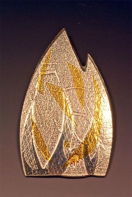 Art: Fire Pendant #1 by Artist Robin Cruz McGee