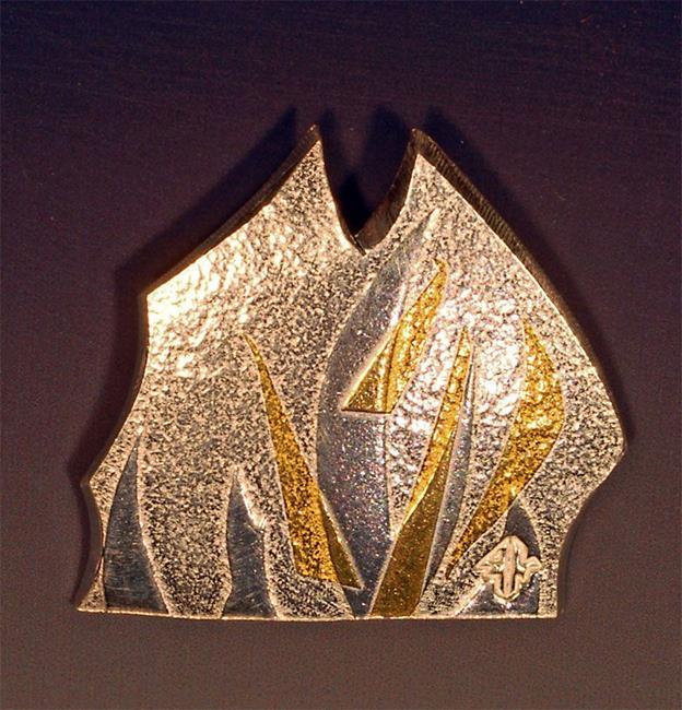 Art: Fire Pendant #2 by Artist Robin Cruz McGee