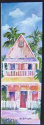 Art: Key West House II 8x24 (M) by Artist Ke Robinson