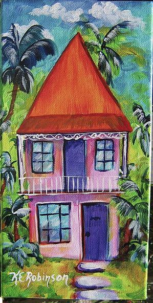 Art: Key West Conch House 6*12 # 1286M by Artist Ke Robinson