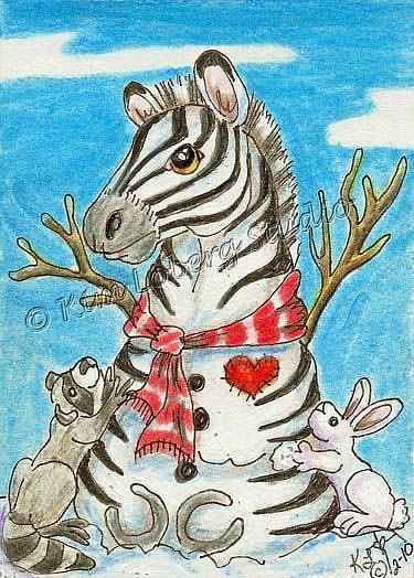 Art: Snow Zebra & Friends Kim's Snow Critters #17 by Artist Kim Loberg