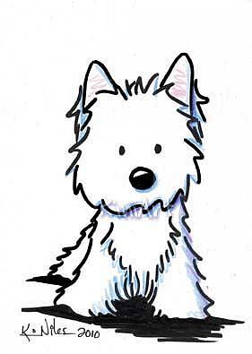 standing westie by kiniart from kiniart westies rh ebsqart com KiniArt Westie Westie Silhouette