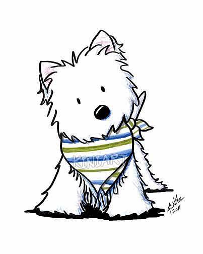 westie in scarf by kiniart from kiniart westies westie clip art free Westies Clip Art Animation