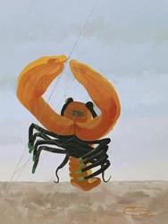 Art: Lobster Kite by Artist Carol Thompson