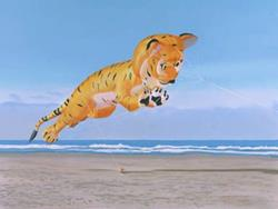 Art: Flying Bengal Tiger by Artist Carol Thompson
