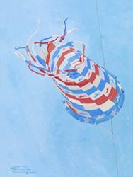 Art: Star Spangled Spinsock by Artist Carol Thompson