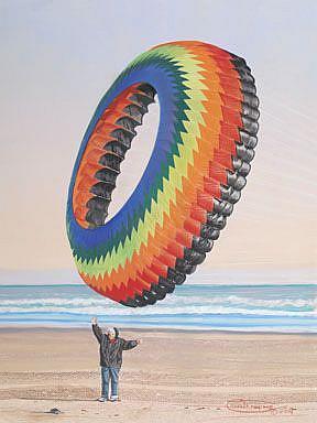 Art: Flying Crown by Artist Carol Thompson