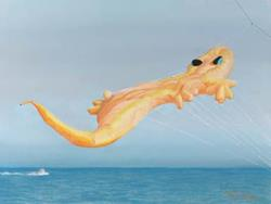 Art: High Flying Gecko by Artist Carol Thompson