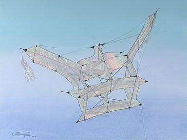 Art: Iridescent Cody by Artist Carol Thompson