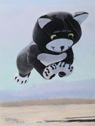 Art: Kitty Kat Kite by Artist Carol Thompson