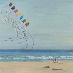 Art: Summer Kites by Artist Carol Thompson