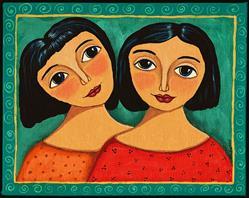 Art: Sweet Sister by Artist Cindy Bontempo (GOSHRIN)