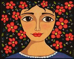 Art: Frida Flowers by Artist Cindy Bontempo (GOSHRIN)