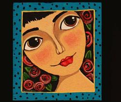 Art: Frida's Face by Artist Cindy Bontempo (GOSHRIN)
