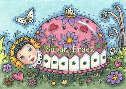 Art: A LADYBUG MURAL by Artist Susan Brack