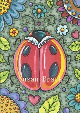 Art: LADYBIRD GARDEN by Artist Susan Brack