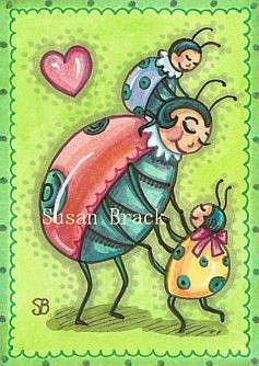 Art: LITTLE LOVE BUGS by Artist Susan Brack