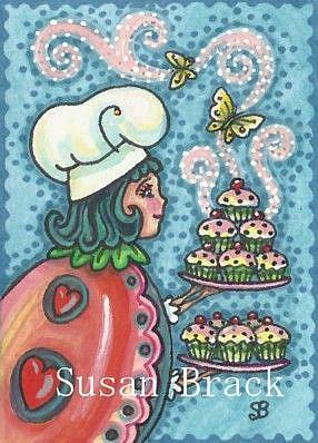 Art: LADYBIRD CUPCAKES by Artist Susan Brack