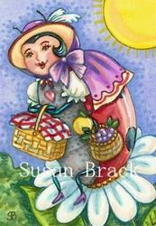 Art: LADYBIRD PICNIC by Artist Susan Brack