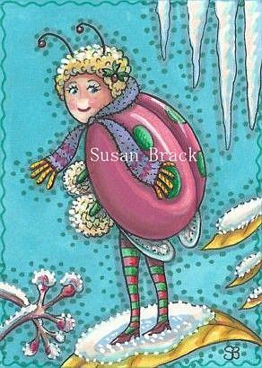 Art: DRESSED FOR WINTER by Artist Susan Brack
