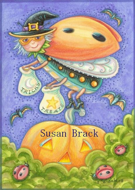 Art: WITCH OF LADYBUG HOLLOW by Artist Susan Brack