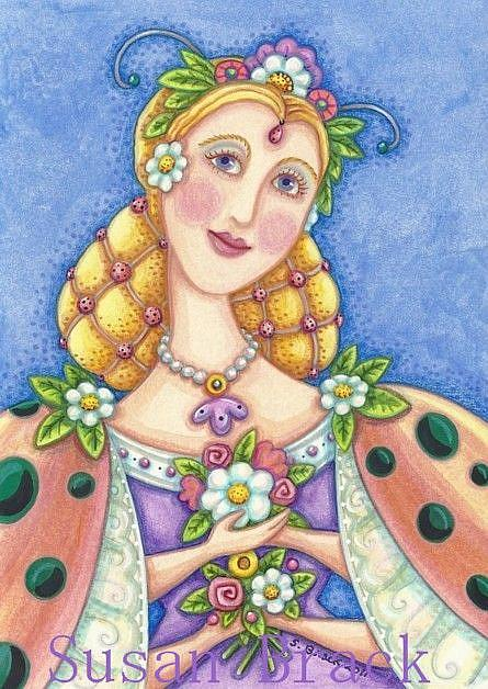 Art: LADYBIRD QUEEN by Artist Susan Brack