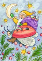 Art: LADYBUG CHRISTMAS by Artist Susan Brack