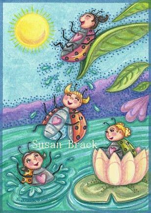 Art: DOWN THE WATER SLIDE by Artist Susan Brack