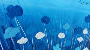 Detail Image for art BLUE POPPIES