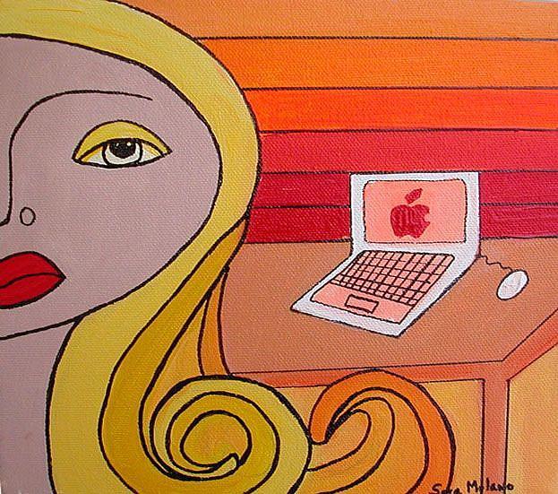 Art: Apple by Artist sara molano