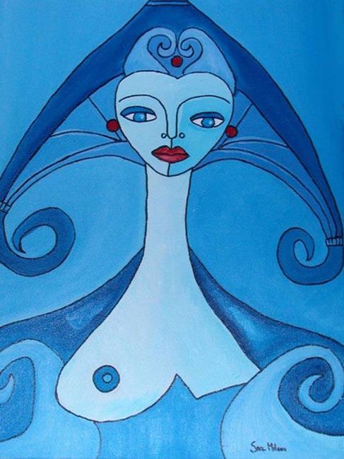 Art: Acuario Aquarius by Artist sara molano