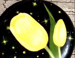 Detail Image for art Black Onyx Yellow Tulip Pendant