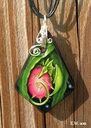 Art: Dragon Fruit Pendant by Artist Elaina Wagner