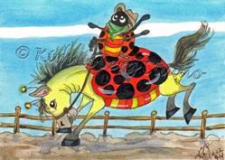 Art: Ridem' Cowboy! by Artist Kim Loberg