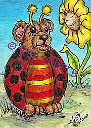 Art: Lady Bug Bear by Artist Kim Loberg