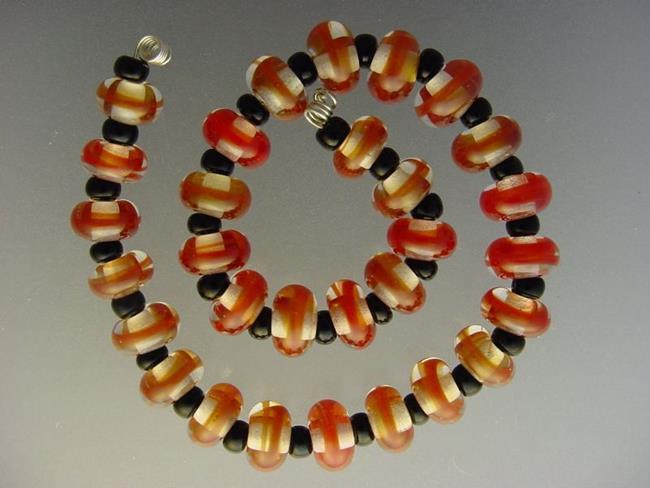 Art: BG Morrow LAMPWORK Handmade Glass Art 30 Beads D233 SRA by Artist Bonnie G Morrow
