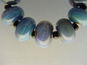 Detail Image for art BG Morrow LAMPWORK Handmade Glass Art 9 Beads D226 SRA