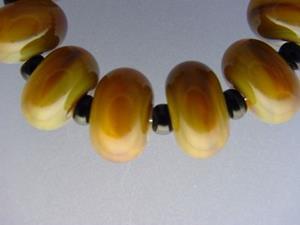 Detail Image for art BG Morrow LAMPWORK Handmade Glass Art 10 Beads D251 SRA