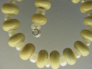 Detail Image for art BG Morrow LAMPWORK Handmade Glass Art 30 Beads D116 SRA