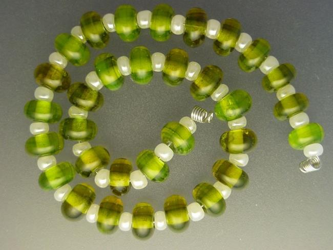 Art: BG Morrow LAMPWORK Handmade Glass Art 32 Beads D103 SRA by Artist Bonnie G Morrow