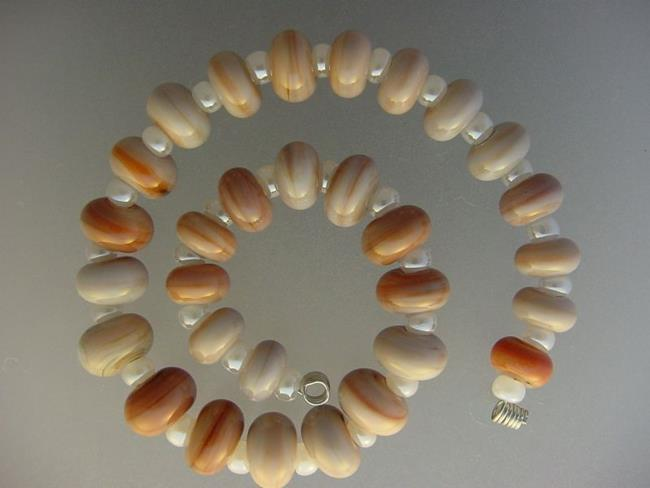 Art: BG Morrow LAMPWORK Handmade Glass Art 30 Beads D154 SRA   by Artist Bonnie G Morrow