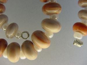 Detail Image for art BG Morrow LAMPWORK Handmade Glass Art 30 Beads D154 SRA