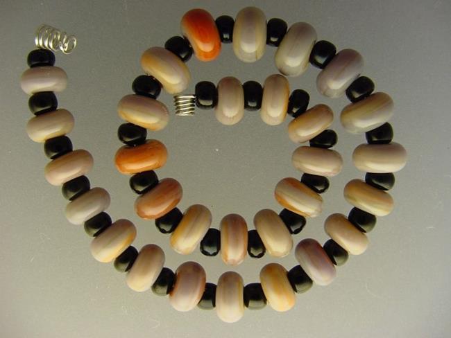 Art: BG Morrow LAMPWORK Handmade Glass Art 30 Beads D243 SRA   by Artist Bonnie G Morrow