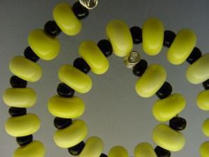 Detail Image for art BG Morrow LAMPWORK Handmade Glass Art 30 Beads D229 SRA