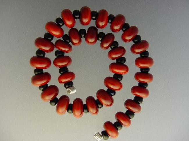 Art: BG Morrow LAMPWORK Handmade Glass Art 30 Beads D218 SRA   by Artist Bonnie G Morrow