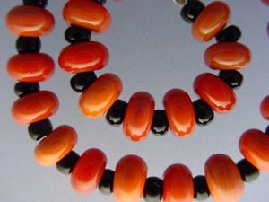 Detail Image for art BG Morrow LAMPWORK Handmade Glass Art 31 Beads D266 SRA